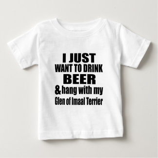 Camiseta Para Bebê Cair com meu vale de Imaal Terrier