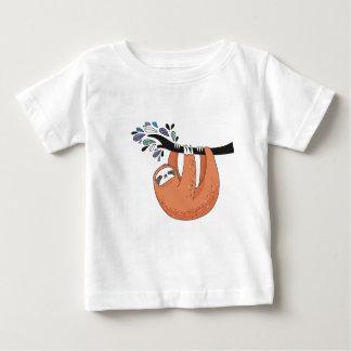 Camiseta Para Bebê Cair da preguiça dentro lá