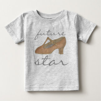 Camiseta Para Bebê Calçados FUTUROS do teatro do dançarino da dança