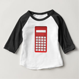 Camiseta Para Bebê Calculadora vermelha da calculadora