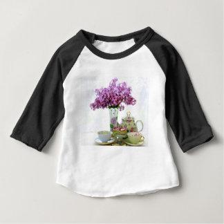 Camiseta Para Bebê Calendário 2018 do tempo do chá