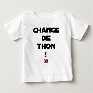 Camiseta Para Bebê CÂMBIO DE ATUM! - Jogos de palavras - François