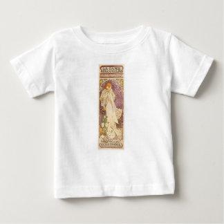 Camiseta Para Bebê Camélias francesas de Nouveau da arte - Alphonse