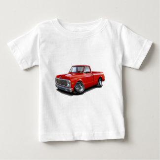 Camiseta Para Bebê Caminhão 1970-72 do vermelho de Chevy C10