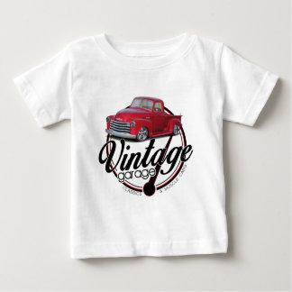 Camiseta Para Bebê Caminhão da garagem do vintage