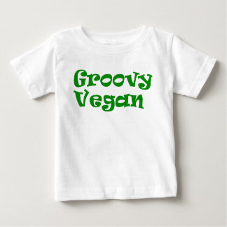 "Camiseta Para Bebê ""Camisa do bebê do vegan Groovy"""
