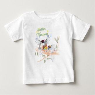 """Camiseta Para Bebê """"Camisa fina escondida do jérsei T do bebê dos"""