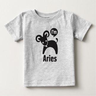 Camiseta Para Bebê Camisetas-Aries do bebê do zodíaco
