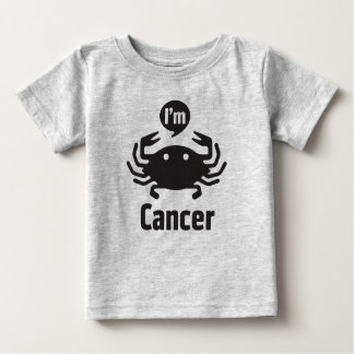 Camiseta Para Bebê Camisetas-Cancer do bebê do zodíaco