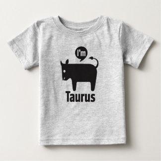 Camiseta Para Bebê Camisetas-Taurus do bebê do zodíaco