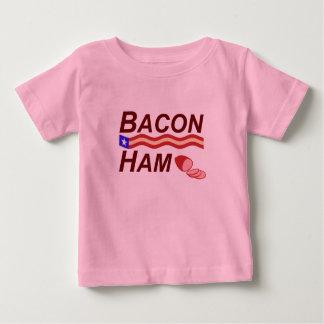 Camiseta Para Bebê Campanha do presunto do bacon