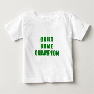 Camiseta Para Bebê Campeão do jogo quieto