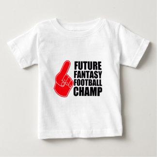 Camiseta Para Bebê Campeão futuro do futebol da fantasia