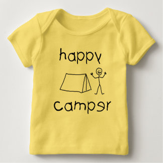 Camiseta Para Bebê Campista feliz (preto)