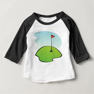 Camiseta Para Bebê Campo de golfe