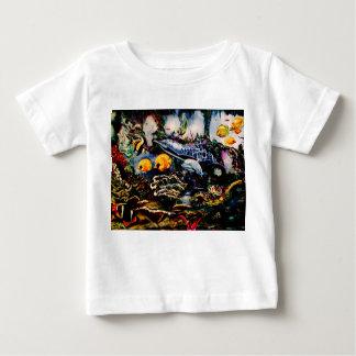 Camiseta Para Bebê Campo de jogos subaquático