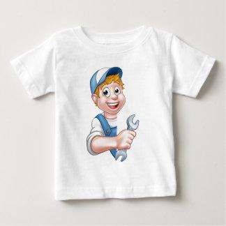 Camiseta Para Bebê Canalizador ou mecânico que guardaram uma chave