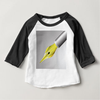 Camiseta Para Bebê caneta de fonte 95Shiny Nib_rasterized