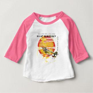 Camiseta Para Bebê Cante até ele uma canção nova