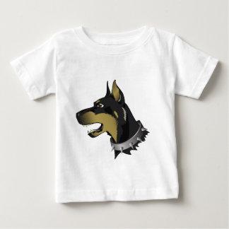 Camiseta Para Bebê cão 96Angry _rasterized