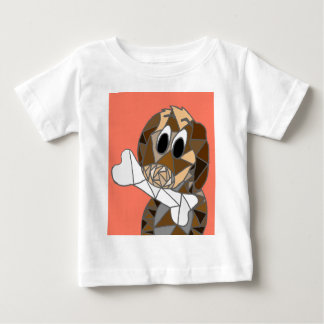 Camiseta Para Bebê cão com osso
