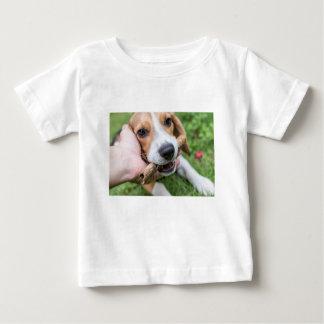 Camiseta Para Bebê Cão com vara