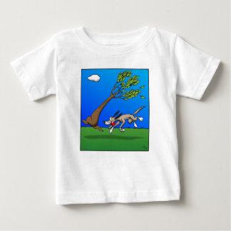 Camiseta Para Bebê Cão cómico