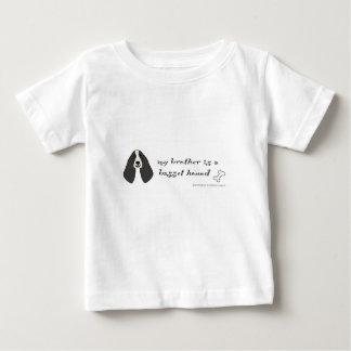 Camiseta Para Bebê cão de basset