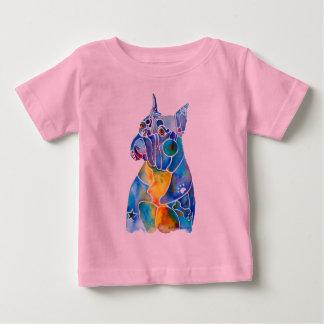 Camiseta Para Bebê Cão do pugilista
