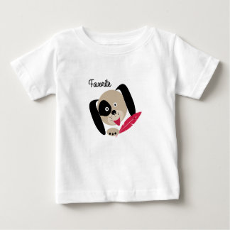 Camiseta Para Bebê Cão favorito.