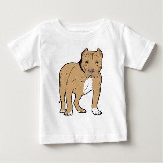 Camiseta Para Bebê Cão personalizado de Pitbull do americano
