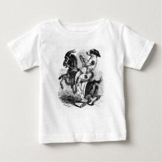 Camiseta Para Bebê Cão que monta uma cabra