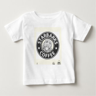 Camiseta Para Bebê cão Starbucks
