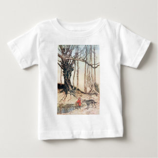 Camiseta Para Bebê Capa de equitação vermelha