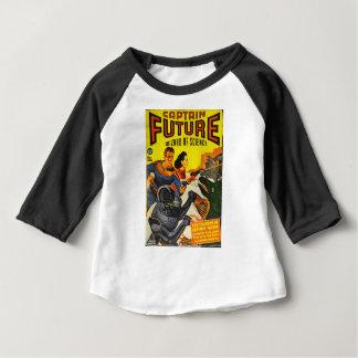 Camiseta Para Bebê Capitão Fure e os cães do espaço