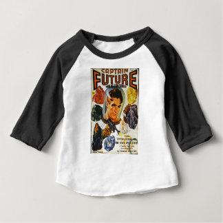 Camiseta Para Bebê Capitão Futuro e as pedras do espaço