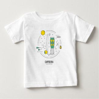 Camiseta Para Bebê Capoeira Brasil - instrumentos musicais Brasil