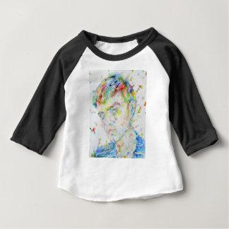 Camiseta Para Bebê capote de truman - retrato da aguarela