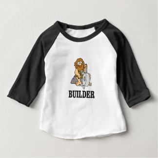 Camiseta Para Bebê cara adiantada do construtor