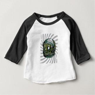Camiseta Para Bebê cara assustador do zombi do vintage