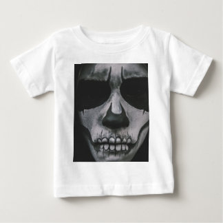 Camiseta Para Bebê Cara assustador preta & branca…