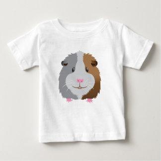 Camiseta Para Bebê cara bonito da cobaia