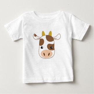 Camiseta Para Bebê cara bonito da vaca