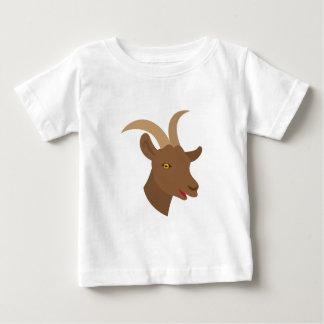 Camiseta Para Bebê cara bonito masculina da cabra