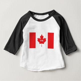Camiseta Para Bebê Cara canadense da folha de bordo