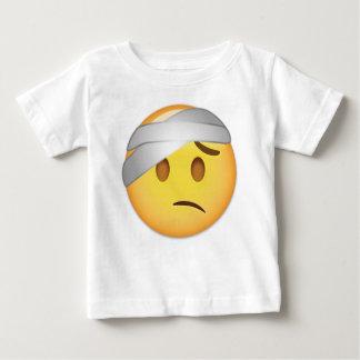 Camiseta Para Bebê Cara com Cabeça-Atadura Emoji