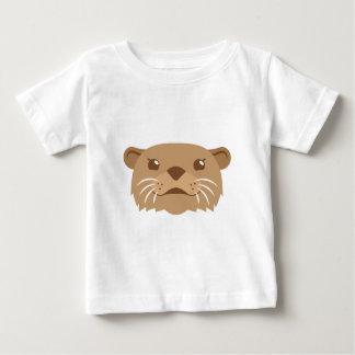 Camiseta Para Bebê cara da lontra