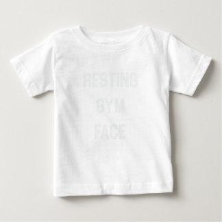 Camiseta Para Bebê Cara de descanso do Gym