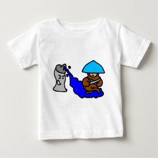 Camiseta Para Bebê Cara de flutuação da pintura pistola
