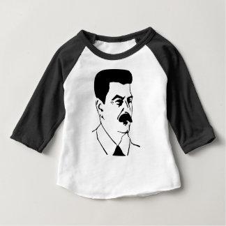 Camiseta Para Bebê Cara de Josef Stalin